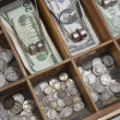 Stock Photo: Vintage Money Drawer