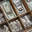 Stockfoto: Vintage Money Drawer