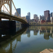Stock Photo: Ohio River Bridge Pittsburgh