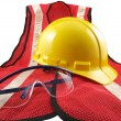 Stock Photo: Safety Equipment on White