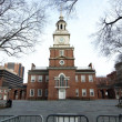 Stock Photo: Wide shot of Independence Hall