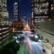 Downtown LA Night - Stock Photo