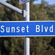 Sunset Blvd Sign - Stock Photo