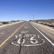 Stock Photo: Decayed Route 66