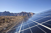 Desert Solar Array — Stock Photo