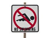 No Swimming Sign — Stock Photo