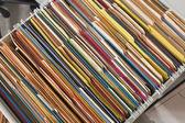 Kleurrijke bestanden — Stockfoto