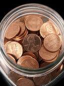 Shinny Penny Jar — Stock Photo
