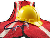 Safety Equipment on White — Stock Photo
