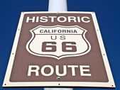 Historic Route 66 Street Sign — Stok fotoğraf