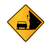 Falling Rocks Ahead — Stock Photo