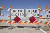 Desert Road Closure — Stock Photo