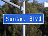 Sunset Blvd Sign — Stock Photo