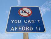 DUI Pennsylvania Sign. — Stock Photo