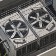 Stock Photo: Big Commercial Air Conditioners