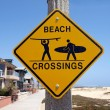 California Beach Crossing — Stok fotoğraf