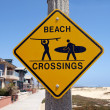 California Beach Crossing — Stock Photo