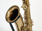 Old Sax on Stand — Stock Photo