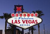 Las Vegas Sign Night — Stock Photo