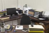 Messy Corner Office — Stock Photo