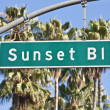 Sunset Boulevard Sign — Stock Photo