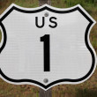 US Highway 1 Sign — Stock Photo