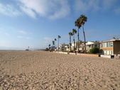 Los Angeles Beach Homes — Stock Photo