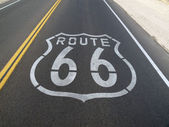 Route 66 Pavement Sign — Stock Photo