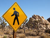 Desert Pedestrian Crossing Sign — Stock Photo