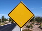 Blank Desert Road Sign — Stock Photo