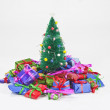 Miniature Christmas Tree with Gifts — Stock fotografie