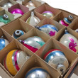 Old Christmas Ornaments — Stock fotografie