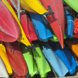 Royalty-Free Stock Photo: California Kayak Pile