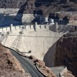 Stock Photo: Hoover Dam and Lake Mead