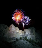 4th of July at Mt Rushmore. — Stock Photo