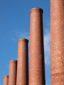 Smokestack Row — Stock Photo
