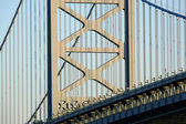 Ben Franklin Bridge Detail — Foto Stock