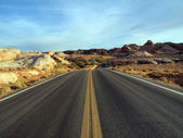 Lonely Nevada Highway — Stock Photo