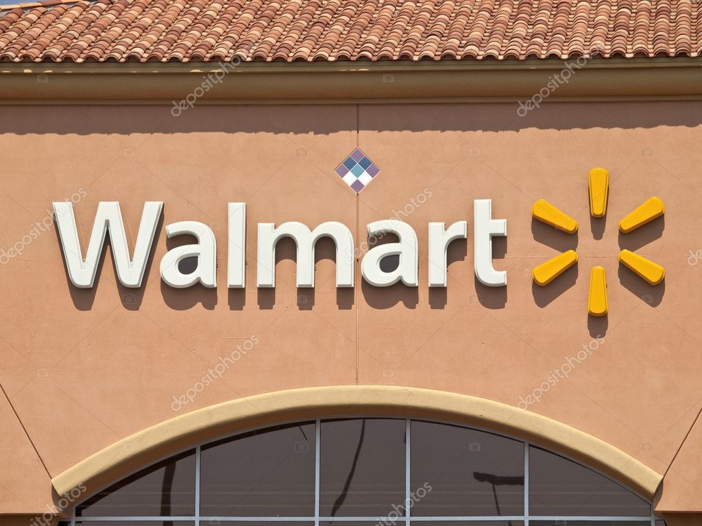 Porter Ranch, California, USA - September 15, 2011:  Typical suburban Walmart big box store sign in afternoon light. — Stock Photo #8072843