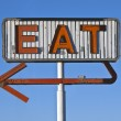 Vintage Neon Eat Sign Ruin — Stock Photo
