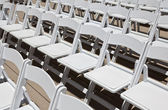 Sedie da sposa bianco — Foto Stock