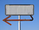Blank Vintage Arrow Sign — Stock Photo