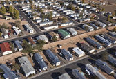 Desert Mobile Homes — Stock Photo