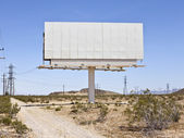 Blank Mojave Billboard — Stock Photo