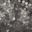 Stock Photo: Reflective US Quarters Background