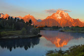 Oxbow Bend at the Grand Tetons — Stock Photo