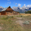 Mormon Row Barn in the Grand Tetons — Stock Photo