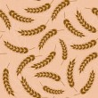 Stock Vector: Spikes of wheat. Seamless pattern.