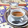 Stock Photo: Cup of coffee in street cafe
