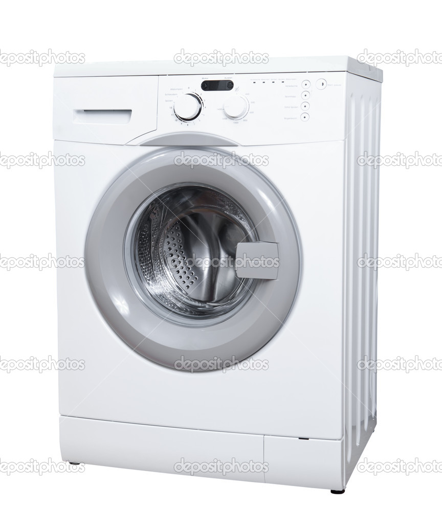 Washing machine isolated on white background — Stock Photo #10405178